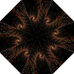 Multicolor Fractals Digital Art Design Golf Umbrellas