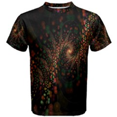 Multicolor Fractals Digital Art Design Men s Cotton Tee