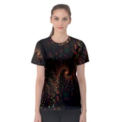 Multicolor Fractals Digital Art Design Women s Sport Mesh Tee