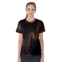 Multicolor Fractals Digital Art Design Women s Cotton Tee