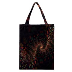 Multicolor Fractals Digital Art Design Classic Tote Bag