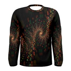 Multicolor Fractals Digital Art Design Men s Long Sleeve Tee