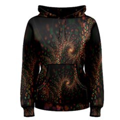 Multicolor Fractals Digital Art Design Women s Pullover Hoodie