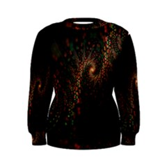 Multicolor Fractals Digital Art Design Women s Sweatshirt