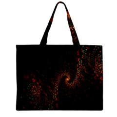 Multicolor Fractals Digital Art Design Zipper Mini Tote Bag
