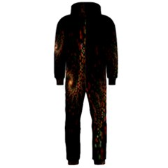 Multicolor Fractals Digital Art Design Hooded Jumpsuit (Men)