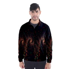 Multicolor Fractals Digital Art Design Wind Breaker (Men)