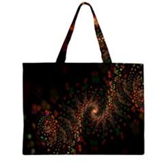 Multicolor Fractals Digital Art Design Large Tote Bag