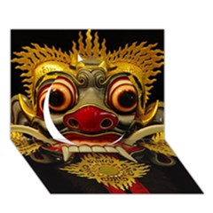 Bali Mask Circle 3D Greeting Card (7x5)