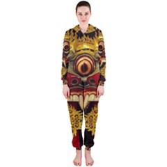 Bali Mask Hooded Jumpsuit (Ladies)