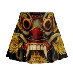 Bali Mask Mini Flare Skirt