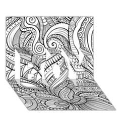Zentangle Art Patterns BOY 3D Greeting Card (7x5)
