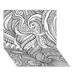 Zentangle Art Patterns Clover 3D Greeting Card (7x5)