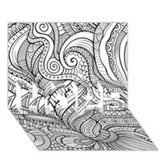 Zentangle Art Patterns HOPE 3D Greeting Card (7x5)