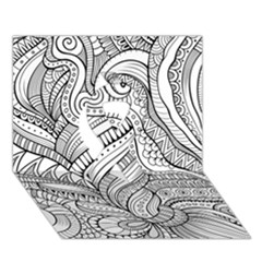 Zentangle Art Patterns Ribbon 3D Greeting Card (7x5)