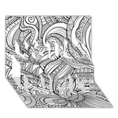 Zentangle Art Patterns You Did It 3D Greeting Card (7x5)