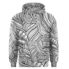 Zentangle Art Patterns Men s Pullover Hoodie