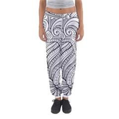 Zentangle Art Patterns Women s Jogger Sweatpants
