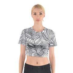 Zentangle Art Patterns Cotton Crop Top