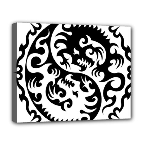 Ying Yang Tattoo Deluxe Canvas 20  x 16