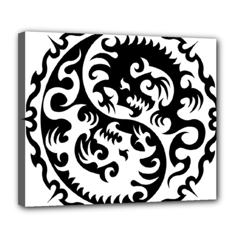 Ying Yang Tattoo Deluxe Canvas 24  x 20