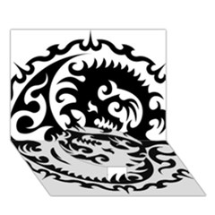 Ying Yang Tattoo Circle Bottom 3D Greeting Card (7x5)