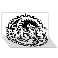 Ying Yang Tattoo PARTY 3D Greeting Card (8x4)