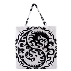 Ying Yang Tattoo Grocery Tote Bag