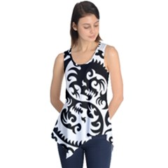 Ying Yang Tattoo Sleeveless Tunic