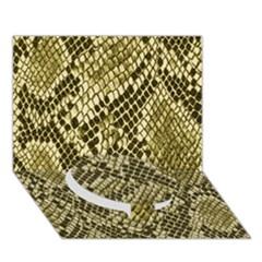 Yellow Snake Skin Pattern Circle Bottom 3D Greeting Card (7x5)