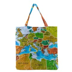 World Map Grocery Tote Bag
