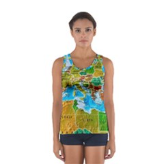 World Map Women s Sport Tank Top