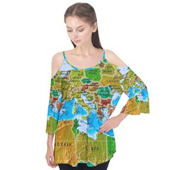 World Map Flutter Tees