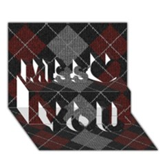 Wool Texture With Great Pattern Miss You 3D Greeting Card (7x5)