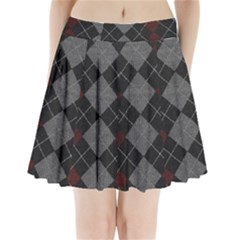 Wool Texture With Great Pattern Pleated Mini Skirt