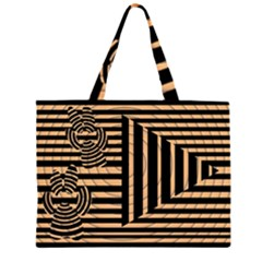 Wooden Pause Play Paws Abstract Oparton Line Roulette Spin Large Tote Bag