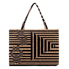 Wooden Pause Play Paws Abstract Oparton Line Roulette Spin Medium Tote Bag