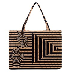 Wooden Pause Play Paws Abstract Oparton Line Roulette Spin Medium Zipper Tote Bag