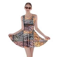 Wooden Blocks Detail Skater Dress