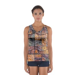 Wooden Blocks Detail Women s Sport Tank Top