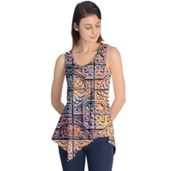 Wooden Blocks Detail Sleeveless Tunic