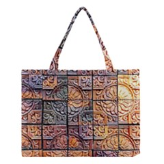 Wooden Blocks Detail Medium Tote Bag