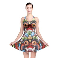 Wood Sculpture Bali Logo Reversible Skater Dress