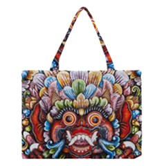 Wood Sculpture Bali Logo Medium Tote Bag