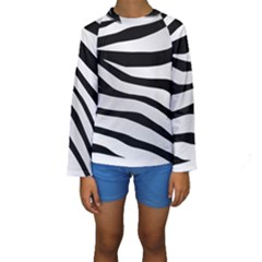 White Tiger Skin Kids  Long Sleeve Swimwear