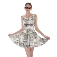 White Technology Circuit Board Electronic Computer Skater Dress
