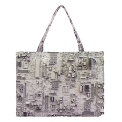 White Technology Circuit Board Electronic Computer Medium Tote Bag