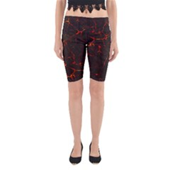 Volcanic Textures Yoga Cropped Leggings