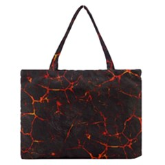 Volcanic Textures Medium Zipper Tote Bag