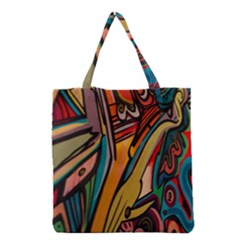 Vivid Colours Grocery Tote Bag
